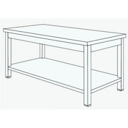 TABLE TEKNO CENTRALE 1S/T L:1600 P:800 H:900mm