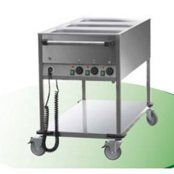 CHARIOT BAIN-MARIE 3GN1/1 3T° RM + 1S/T CDE P.COTE
