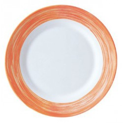 ASSIETTE PLATE ARCOROC BRUSH ORANGE 23,5
