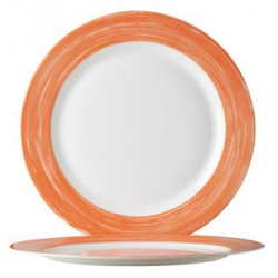 ASSIETTE A DESSERT ARCOROC BRUSH ORANGE 19,3cm