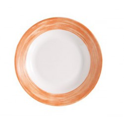 ASSIETTE CREUSE ARCOROC BRUSH ORANGE 22,6cm