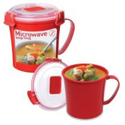 MUG A POTAGE SISTEMA MICRO-ONDABLE 66cl ROUGE