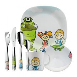 SET ENFANTS WMF WILLY MIA & FRED - 7 PIECES