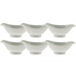 COUPELLE MINI SAUCIERE BLANCHE 10x4Hcm SET DE 6  *