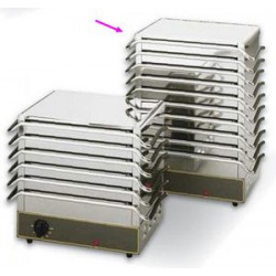 CHAUFFE-PLAT ROLLER GRILL DW110 10 PLAQUES 1300W