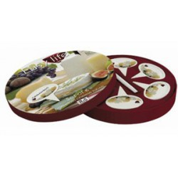 SET DE 6 ETIQUETTES A FROMAGE EN PORCELAINE DECOR*