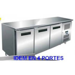 TABLE REFRIGEREE AFI TCP4P7AL INOX/ALU 4P 70x223