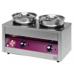 BAIN-MARIE THERMOSYSTEM 2 CUVES RONDES 4,2L 400W