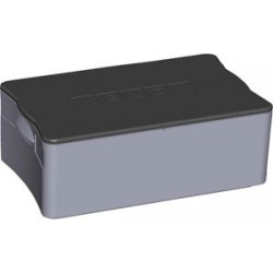 THERMOBOX 40L GRIS COUVERCLE NOIR 600x400x275H mm