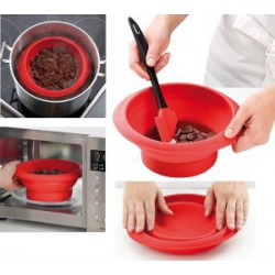 CHOCO BOWL LEKUE EN SILICONE Ø180x92H mm ROUGE