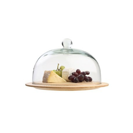 cloche a fromage en verre plateau en hetre 30cm dutrieux. Black Bedroom Furniture Sets. Home Design Ideas